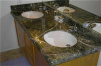 Rain Forest Green Marble Vanity Top