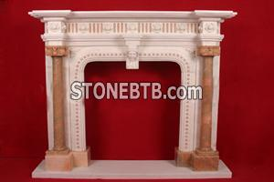 Red White Fireplace
