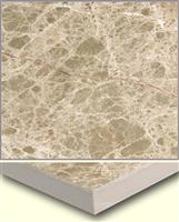 laminated panel-light emperador with ceramic tile