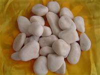 Pure White Marbel Pebble Stone and Cobblestones