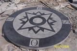 Blue Limestone and Sandstone Medallion