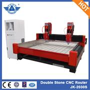 Heavy duty stone processing machinery stone carving machine cnc router with two heads