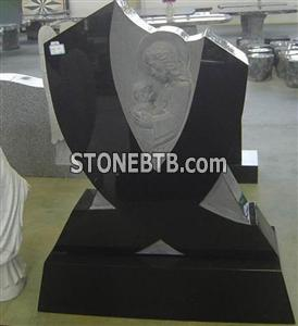 Shanxi Black Angel Headstone