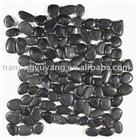 Interlocking Black Mesh Pebble Tile