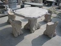 Stone Table and Chair Carving