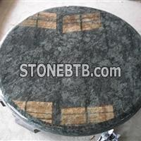 Olive Green Round Countertop