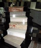 White marble stair