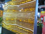 Pervious to light green onyx stone slabs