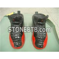 Black granite carved basketball shoes for tombstone