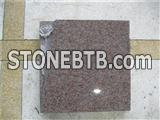 Granite slant tablet with rose carving