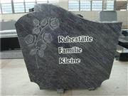 German style bahama blue granite carved rose gravestones