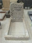 Tiger skin white granite tombstones with kerbset
