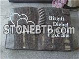 Paradiso granite book design headstones with heart