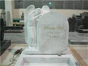 White marble standing angel sculpture tombstones