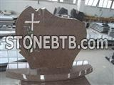 Poland granite cross carving headstone