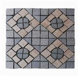 Granite paving stone on mesh