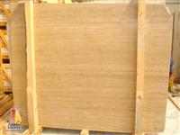 Turkish Beige Travertine Vein Cut Slabs