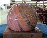 Granite floating sphere fountain