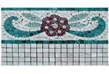 Antiquated polished mosaic border line