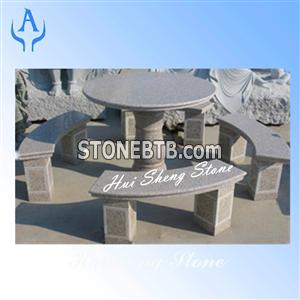 Granite Grey Bench Table Landscaping Stone