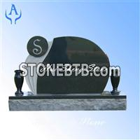 Granite Black Tombstone Monument