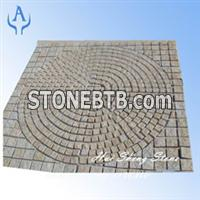 Granite Yellow Pavers Cubic Stone Cobble
