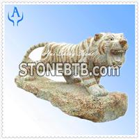 Granite Yellow Tiger Sculpture
