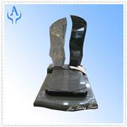 Granite Wave Sand and Shanxi Black Monument Tombst5one