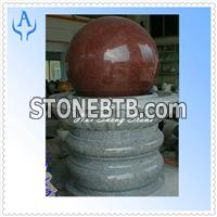 Granite India Red Fountain Stone Ball