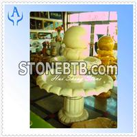 Granite Yellow Fountain Stone Ball