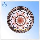 Marble Multicolor Mosaic Medallion