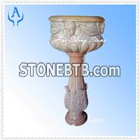 Granite Brown Flower Pot
