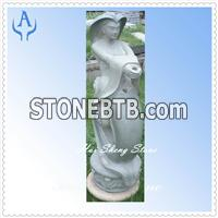 Granite Garden Person Sculpture