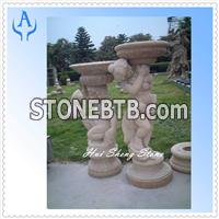 Granite Brown Garden Person Sculpture