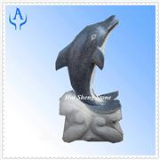 Granite Garden Dolphin Sculpture