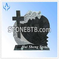 Granite Black Headstone Monument