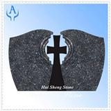 Granite Black Cross Headstone Monument