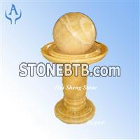 Granite Golden Yellow Fountain Ball