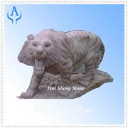 Granite Grey Animal Tiger Sculpture