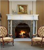 Mix Color Marble Fireplace