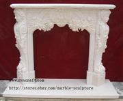 White Marble Fireplace Surround 02