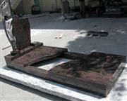 Aurora Granite Tombstone