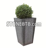 Decorative Natural Stone Flowerpot