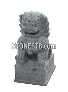 outdoor stone lion statue
