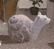 snail stone statue