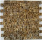 Mystic Travertine Split Face Mosaic Tiles and Patt