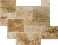 Agean Blend Travertine F/H Versailles Pattern