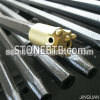 7 Degree Taper button bit with 4/5 carbide bits for rock drilling
