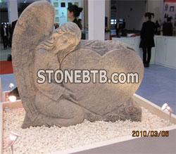 Multi grain carving tombstone