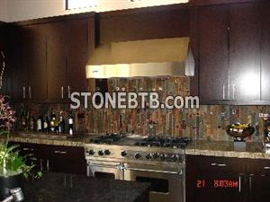 Rust Slate Backsplashes, Kitchen Design